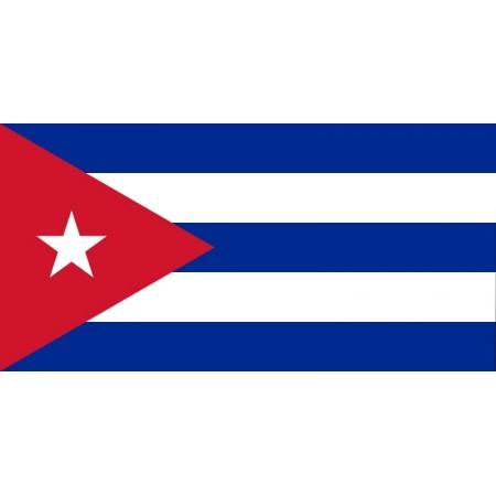 Drapeau Cuba - tissu - 60 X 90 cm