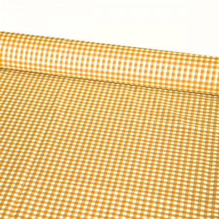 Tissu Vichy orange - Larg. 150cm :  le ml