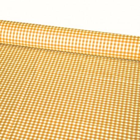 Tissu Vichy orange - Larg. 150cm :  le ml