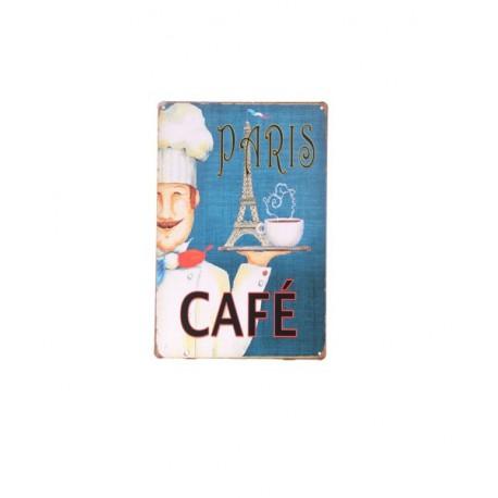 Plaque Métal CAFE PARISIEN - 20 x 30cm