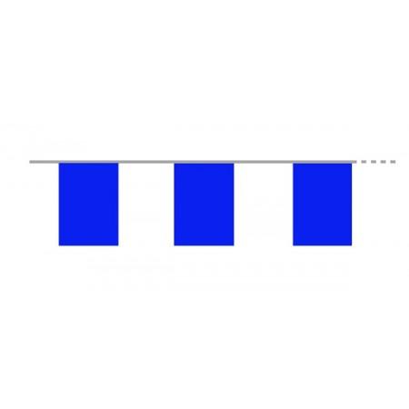Guirlande de 10 fanions bleus  20  x 30 cm - plastique - Long.420cm