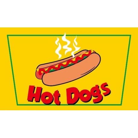 Drapeau Hot Dogs - tissu - 90 x 150cm