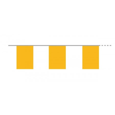 Guirlande de 10 fanions jaunes  20  x 30 cm - plastique - Long.420cm