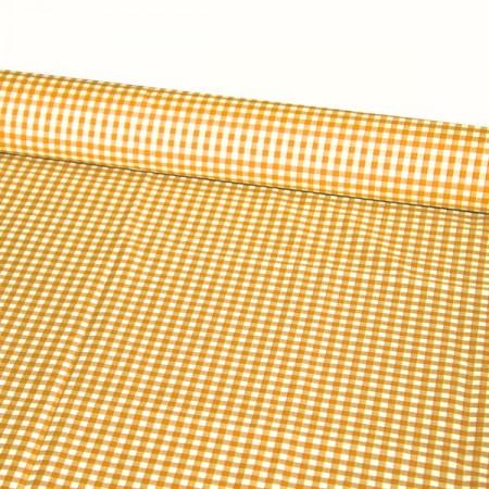 Tissu Vichy orange - Larg. 150cm - Coupe de 2m