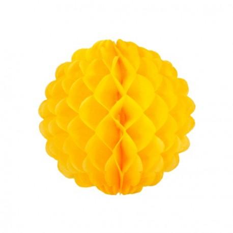 Boule jaune - papier - diam 32cm