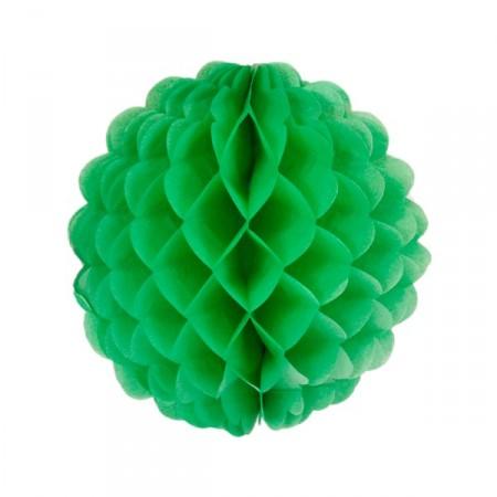 Boule verte - papier - Diam. 32 cm