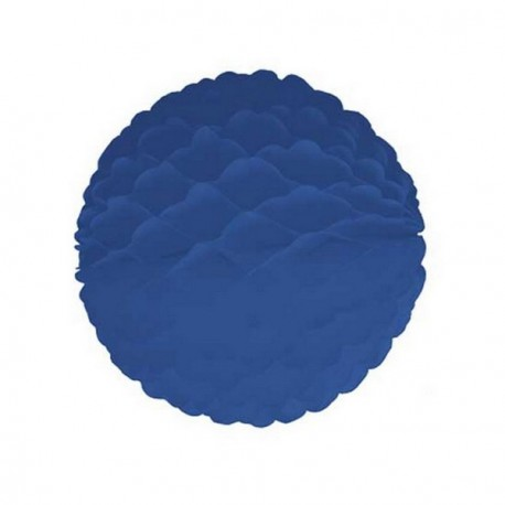 Boule bleu fonce - papier - Diam. 32 cm*