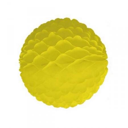 Boule jaune - papier - diam 32cm *