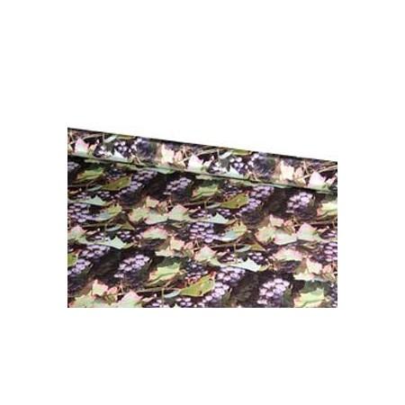 Tissu raisin  -synthétique ignifugé M1 - Larg. 150 cm   (vendu au mètre)*