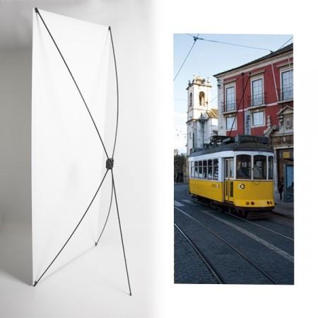 Kakemono Portugal Tramway - 180 x 80 cm - Toile M1 avec structure  X- Banner