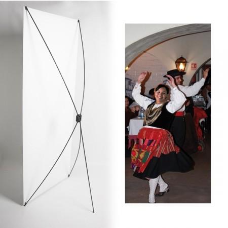 Kakemono Portugal Danseuse - 180 x 80 cm - Toile M1 avec structure  X- Banner