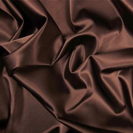 Tissu satin marron larg 150 cm le ml