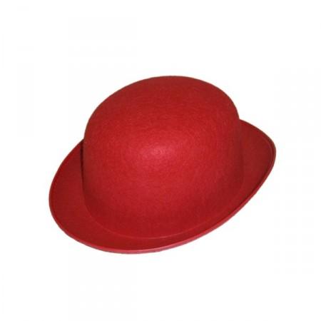 Chapeaux melon rouge - feutre