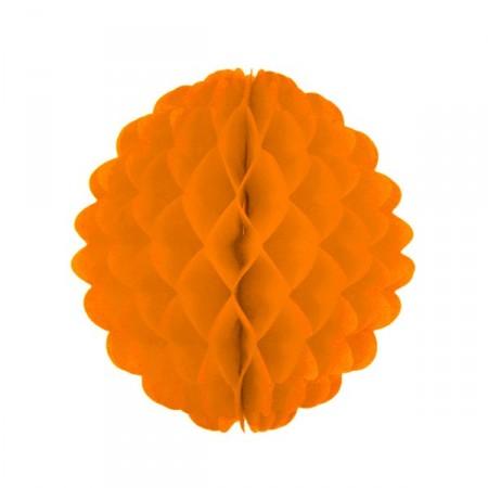 Boule orange  - papier - Diam. 32 cm