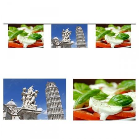 Guirlande Italie  - 10 fanions 20 x 30 cm - papier - Long.520cm