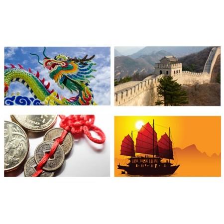 Mobiles Chine x 4 - carton - 27 x 49 cm