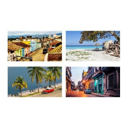 Mobiles Cuba x 4 - carton - 27 x 49 cm