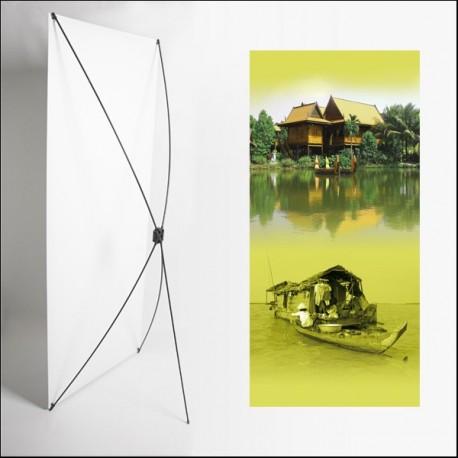 Kakemono Asie Maison - 180 x 80 cm - Toile M1 avec structure  X- Banner