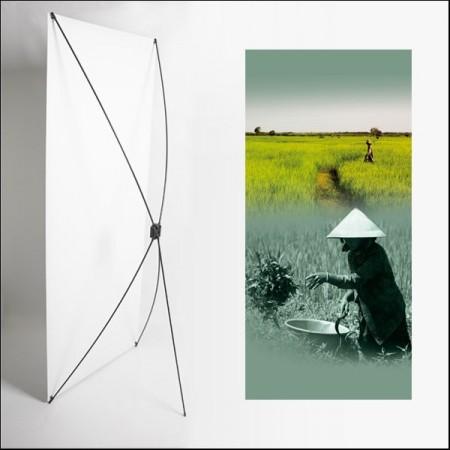 Kakemono Asie Riziere - 180 x 80 cm - Toile M1 avec structure  X- Banner
