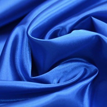 Tissu Satin Bleu- Larg. 150cm  (vendu au mètre)
