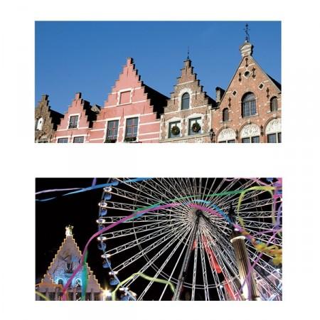 Mobiles Nord Flandre recto/verso X 2 - carton - 46 x 23 cm