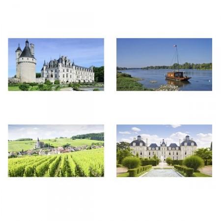 Mobiles Châteaux de la Loire x 4 - carton  - 27 x 49 cm