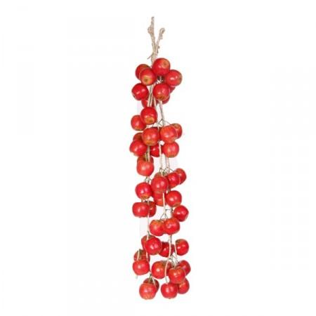 pommes - tresse x 5 - polystyrène - Long.100cm