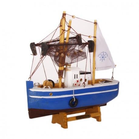Bateau de pêche - Bois - 24 x 23cm - Différents modèles