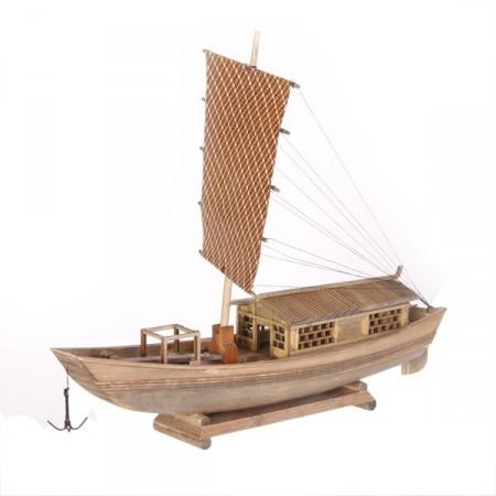 Bateau traditionnel asiatique - Bois - Long 35cm - Différents modèles