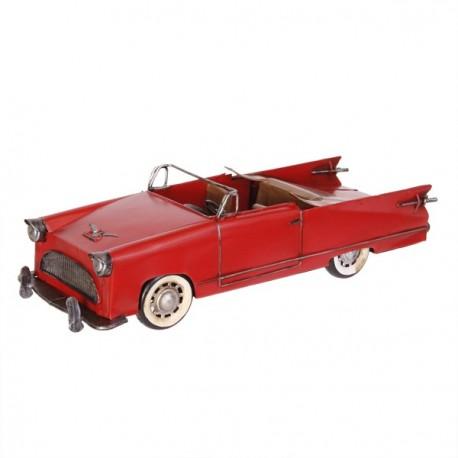 Cabriolet américain rouge - Métal - 36 x 13cm