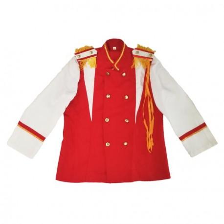 Veste de fanfare rouge et blanche - Tissu - Taille adulte