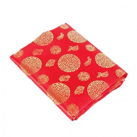 Tissu Asiatique Calligraphie - coupe de 2 m x 150 cm de larg.