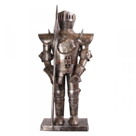 Armure médiévale miniature en métal - 52 x 24 x 16 cm