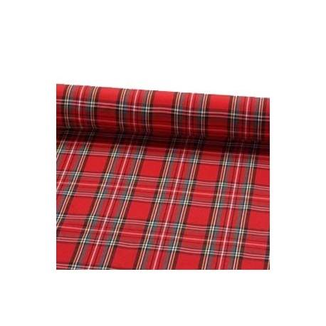 Tissu motif ecossais - larg. 150cm    (vendu au mètre)