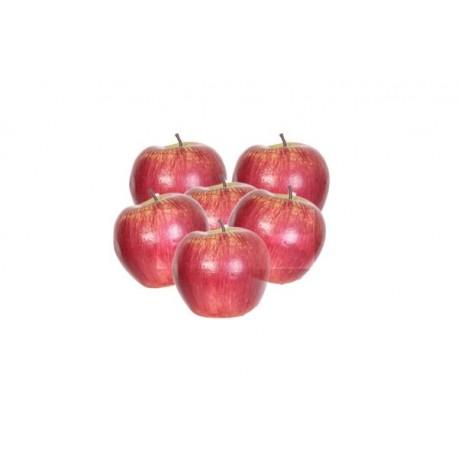 Pommes - lot de 6 - polystyrène