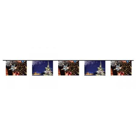 Guirlande NOEL - 10 fanions 20 x 30 cm - papier - Long.420cm