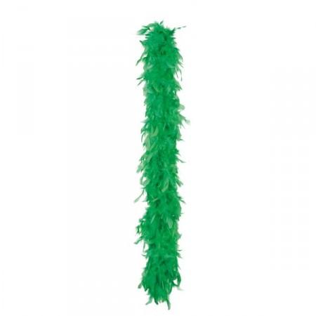 Boa vert -  plumes - Long. 180cm