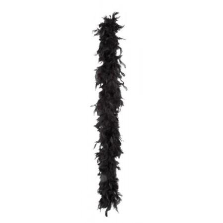 Boa noir -  plumes - Long. 180cm