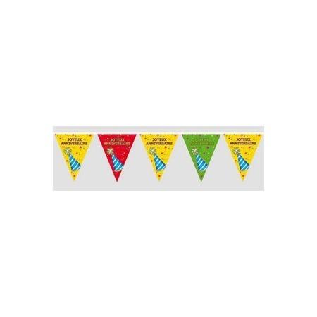 Guirlande Joyeux anniversaire - pvc - 6 m