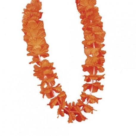 colliers fleurs orange x 12 - tergal