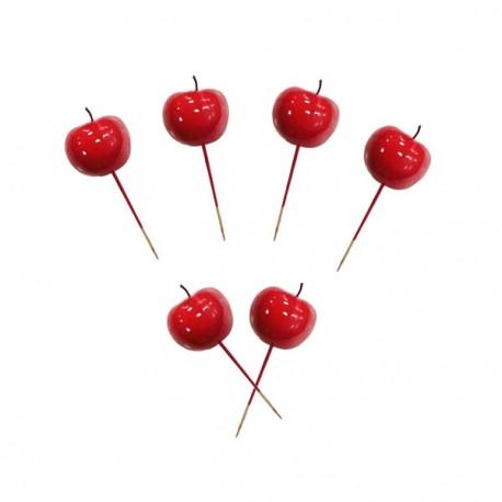 Sachet de 6 pommes d'amour sur pic