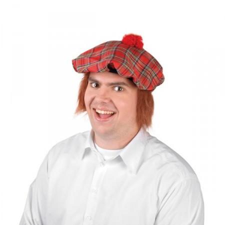 Béret écossais et cheveux*