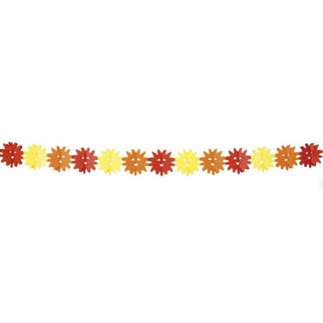 Guirlande soleils - papier - Long. 400cm