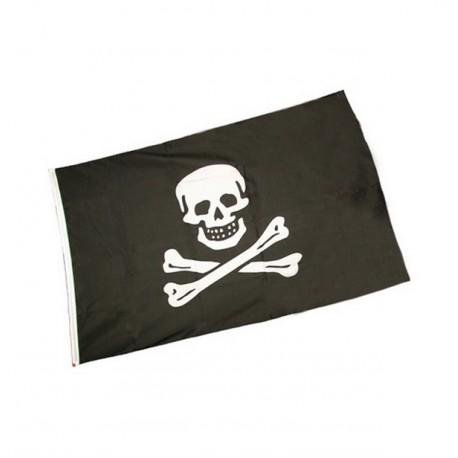 Drapeau Pirate - tissu - 60 x 90 cm
