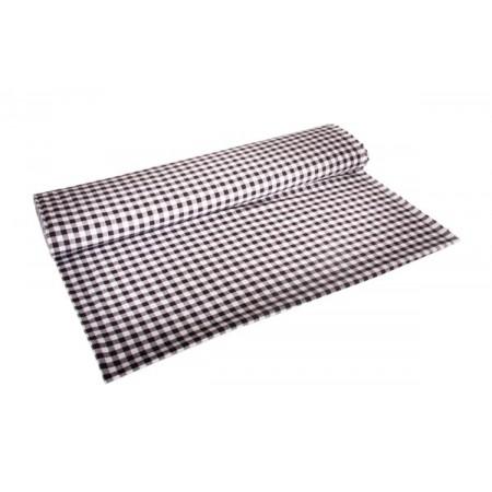 Tissu Vichy noir - Larg. 150cm :  le ml