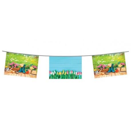 Guirlande Beaux Jours - 10 fanions 20 x 30 cm - papier - Long.420cm