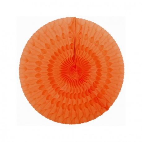 Eventail orange - papier - Diam. 50 cm