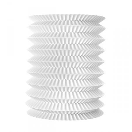 Lampion cylindrique blanc - papier - diam 15 cm