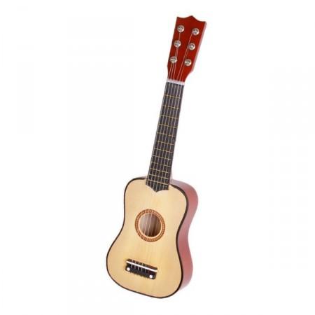 Petite guitare sèche - Bois naturel - Long 57cm