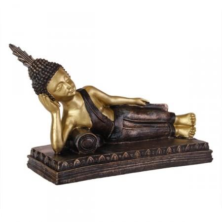 Bouddha couché 30x18 x11 - resine